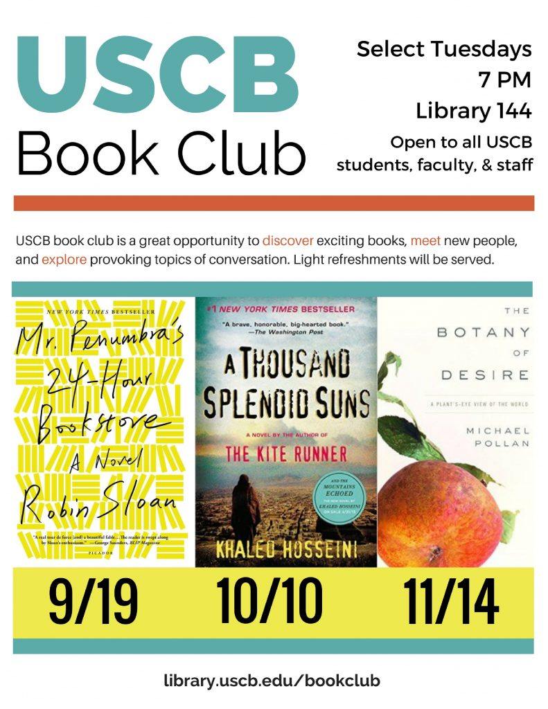 Fall 2017 Book Club Poster